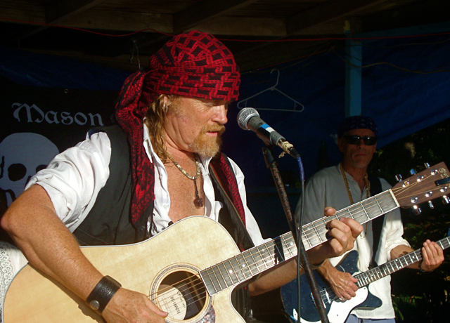 Tom Mason and the Blue Buccaneers perform at Rhythms at Rainbow Beach in 2011.