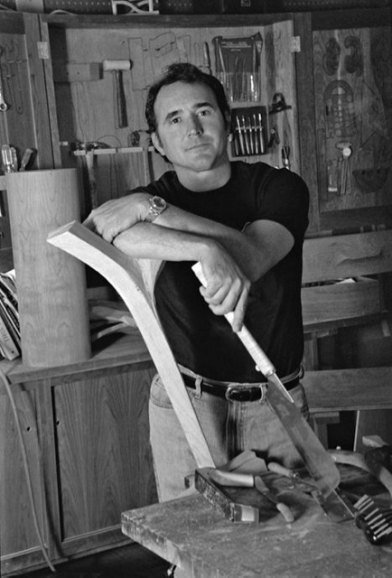 David Moser in his workshop in Maine. (Image provided by David Moser)