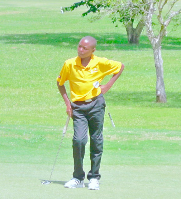 12-year-old golfer Demar James from Antigua was a highlight of the tournament.