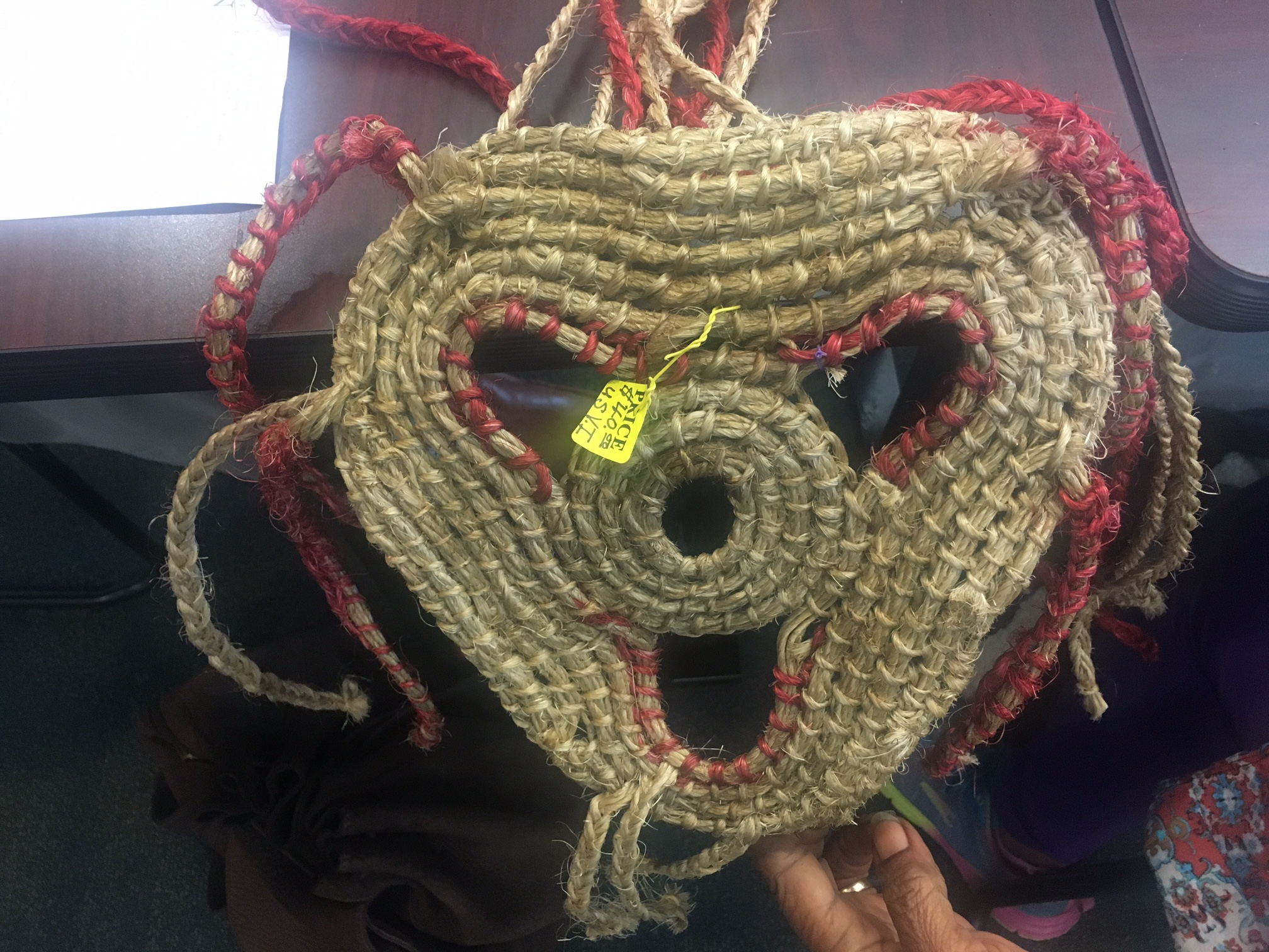 Locally made mask was displayed at Culture Bearers Conference on St. Thomas on Sept. 2.