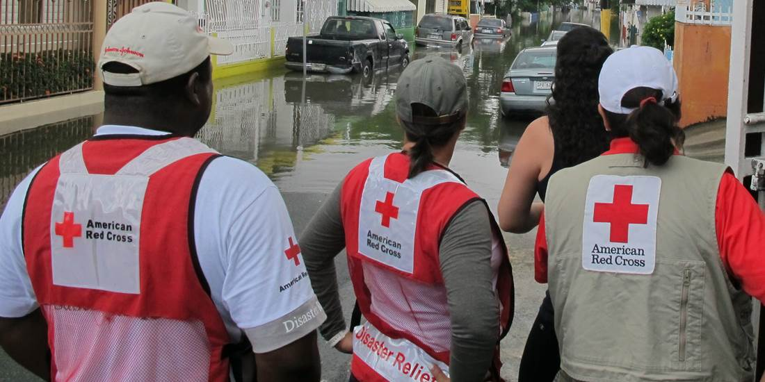 American Red Cross responding to a flood
