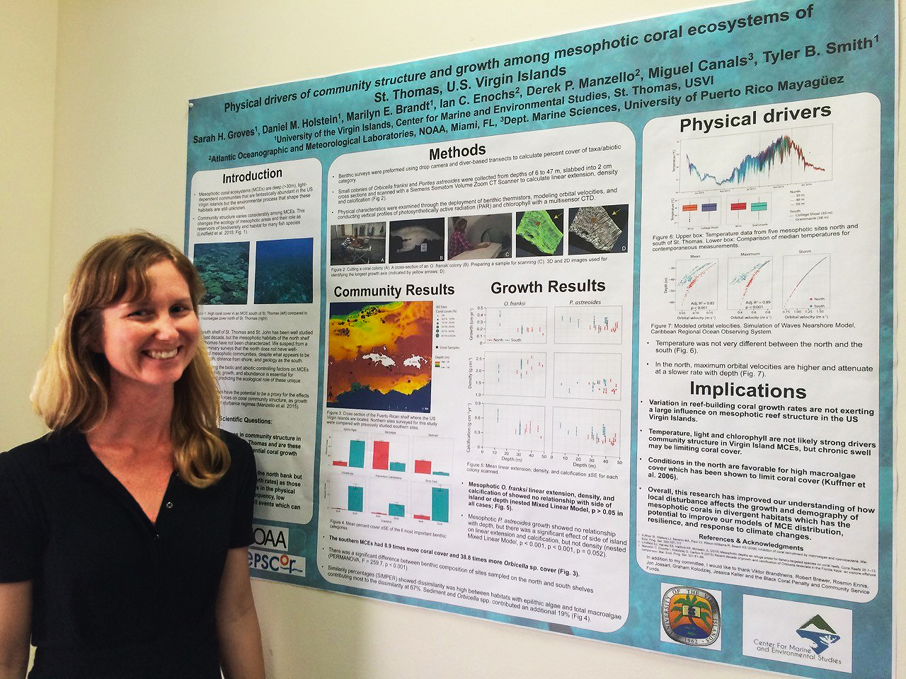 Sarah Groves -- Physical Drivers of Community Structure and Growth of Mesophotic Coral Ecosystems Surrounding St. Thomas, U.S. Virgin Islands