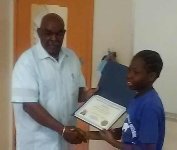 Harrigan and Lockhart Elementary 1st Place winner Keiron Charles