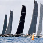 Five multi-hulled boats race the wind – and each other – Thursday in the Round the Rocks Race. (Photo © STIR/Dean Barnes)