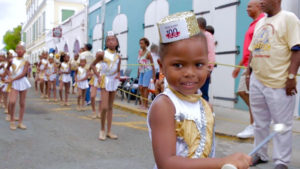 Savannah Gabriel frontlines for her grandmother's troupe, the Sebastien Majorettes, which is celebrating its 60th anniversary.