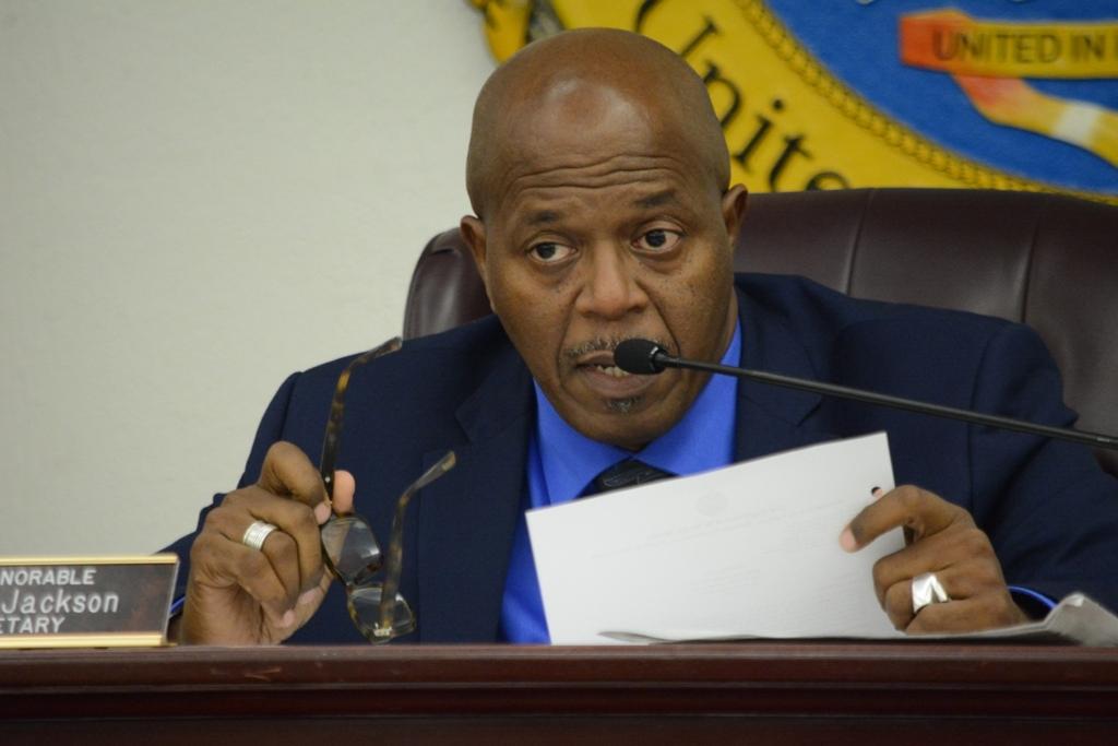 Senate President Myron Jackson