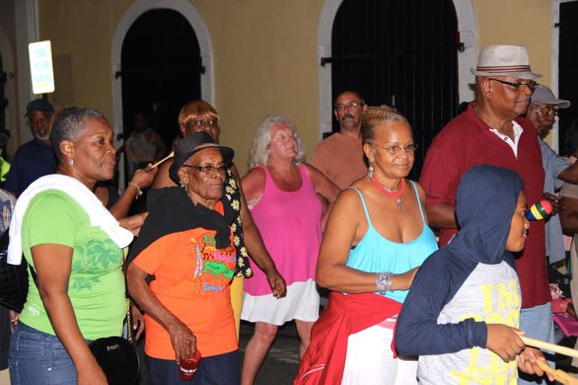 Seniors take part in the annual Quelbe Tramp in Charlotte Amalie