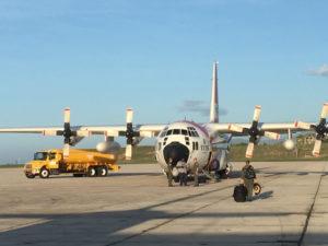 A plane brings a load of FEMA supplies into the territory. (FEMA photo)