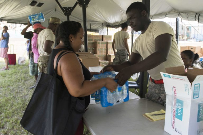 Where Food, Water and Tarps Are Being Distributed
