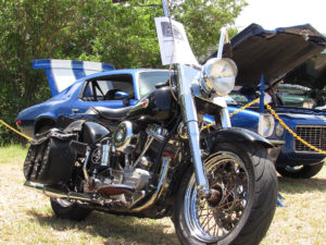 The entries at the Love City Car Show included some classic motorcycles.