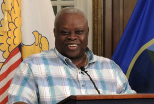 Gov. Kenneth Mapp announced relaxed curfew hours at Wednesday's news conference.