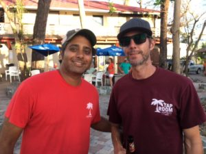 Chirag 'Cheech' Vyas and Kevin Chipman of St. John Brewers gave out free cold drinks.