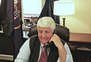 Rep. Rob Bishop (R-UT) handles a constituent phone call. (Photo from Bishop's official website)