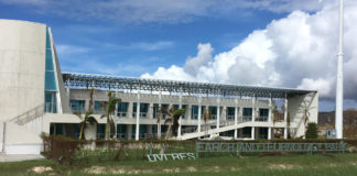 The RTPark building on UVI's St. Croix campus sustained heavy damage from Hurricane Maria.