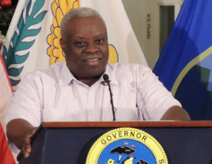 Gov. Kenneth Mapp at a December news conference. (File photo)