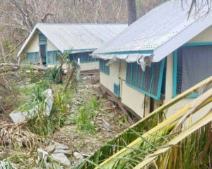 Hurricanes Irma and Maria inflicted heavy damage on the cabins at the Virgin Islands Environmental Research Station at Lameshur Bay.