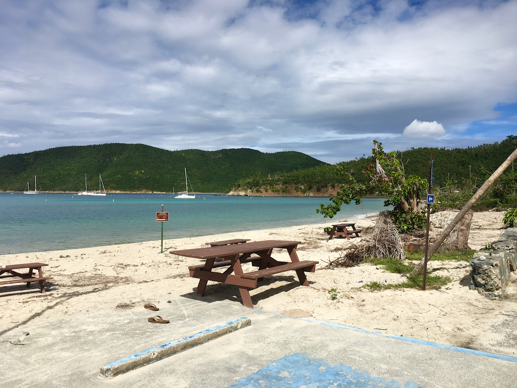 The Beach At Maho Bay Is Open But Still Shows Signs Of Storm Damage