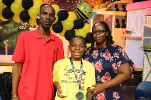 Territorial Intermediate Spelling Bee Champion Jah'Quane Graham.
