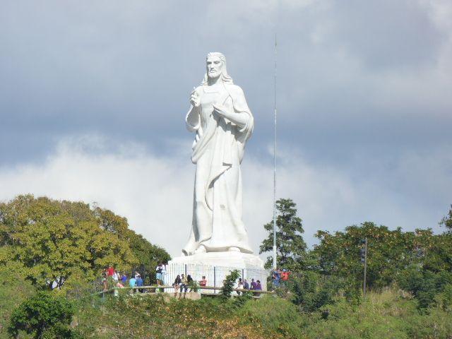Christ statue over Havana Harbor