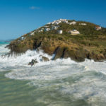 Huge waves pound the Devil's Triangle on St. Thomas's north shore. (Alain Brin, Blue Glass Phortography)