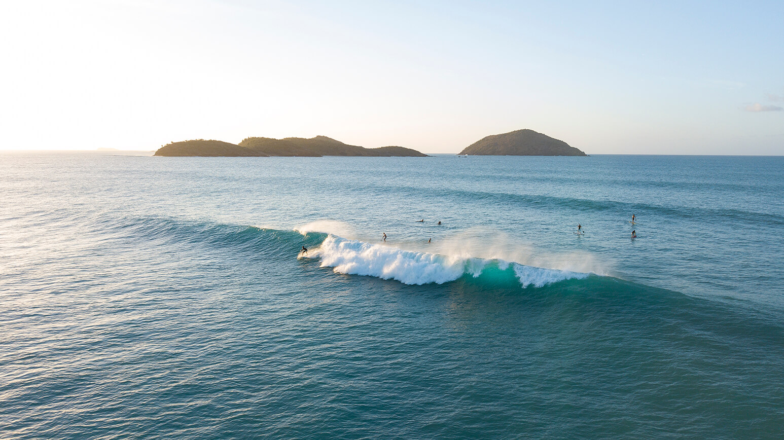 Surfers at Hull Bay on St. Thomas