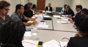 JFL board members and administration discuss hurricane recovery Thursday.