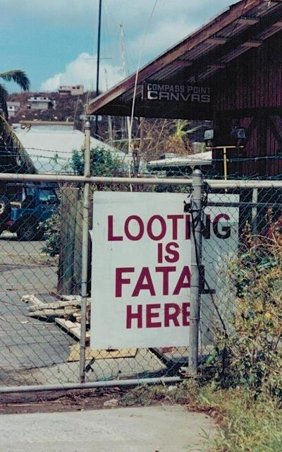 Looting is fatal sign at Compass Point