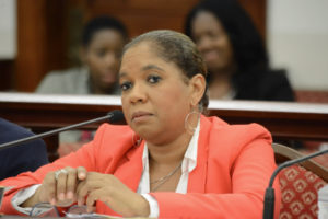 Tanya-Marie Singh testifies before the Senate in 2016. (File photo)