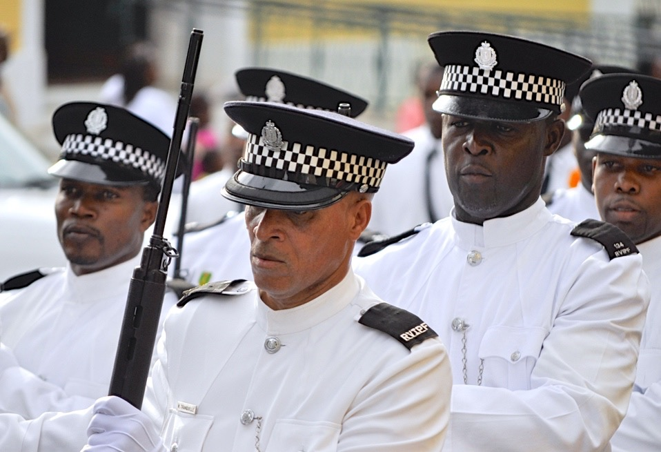 Members of the British Virgin Islands' Royal Virgin Islands Police Force