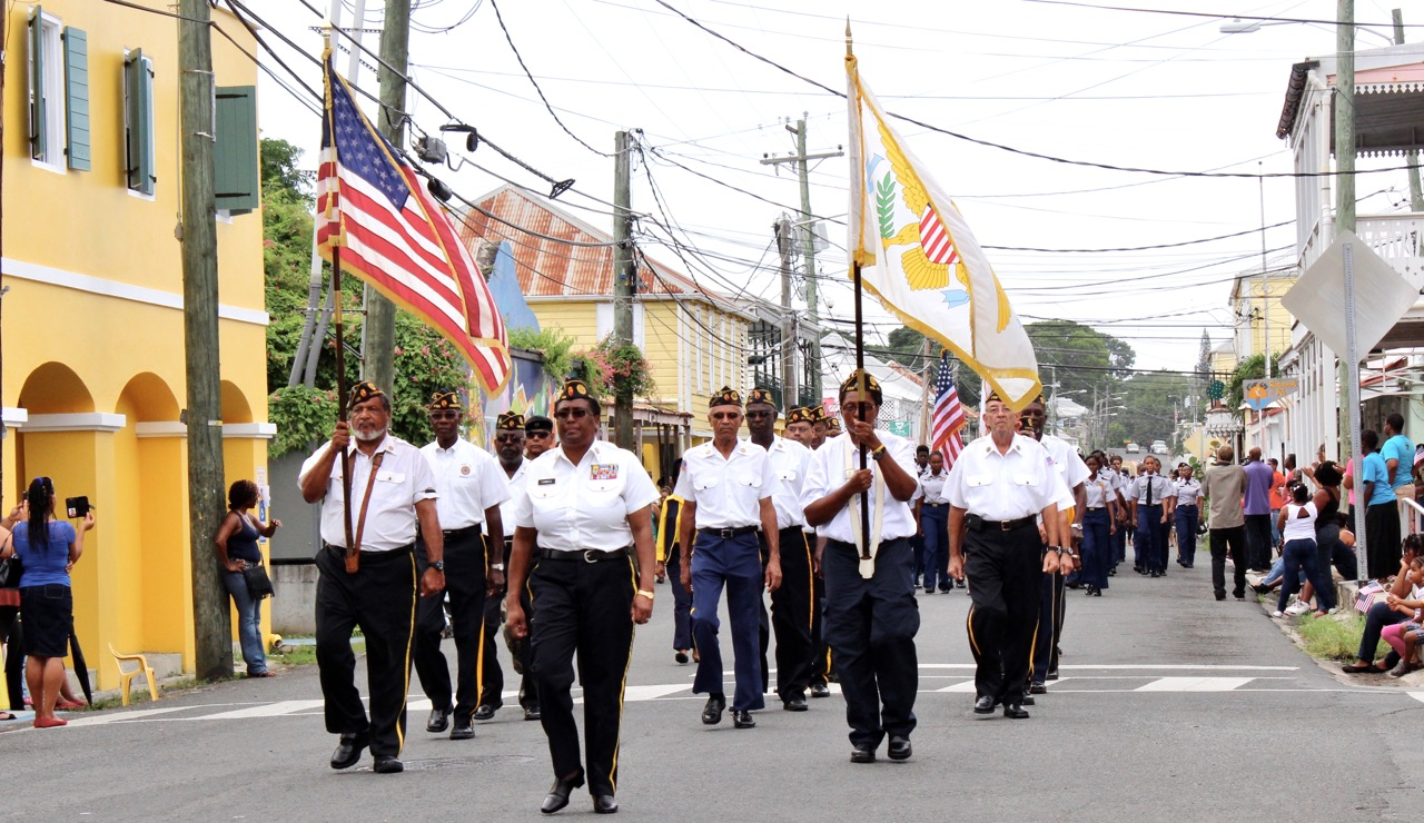Members of the American Legion march