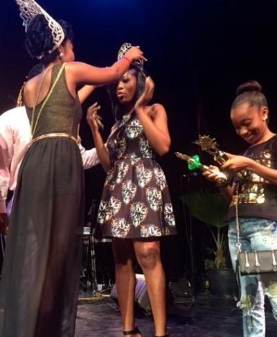 Caribbean Queen being crowned