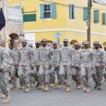 The Virgin Islands National Guard marches