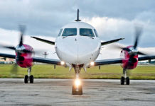 A Silver Airways Saab 340 plane. Silver announced Monday that it has completed the acquisition of Seaborne Airline.