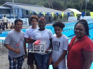 The Elena Christian Junior High team with their winning ROV.