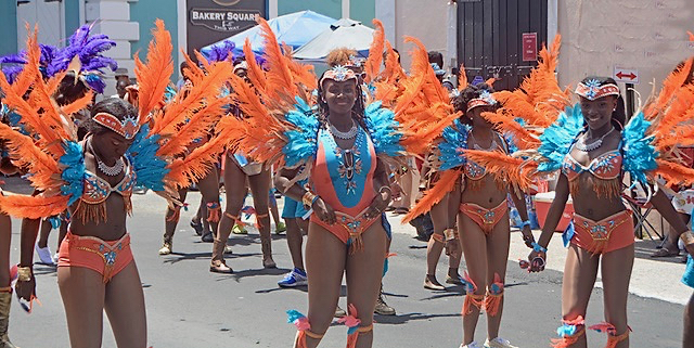 Caribbean butterflies flutter down Main Street. The smiles never stopped. (Gerard Sperry photo)