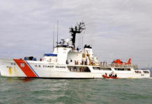 U.S. Coast Guard cutter Confidence, home-ported in Port Canaveral, Florida, was part of the search. (Coast Guard photo)