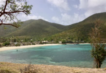 Caneel Bay, view from Cottage Point, on June 12.