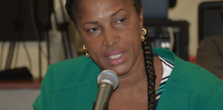 Masserae Sprauve-Webster presents the proposed budget for Frederiksted Health Care.