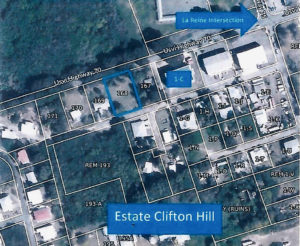 Location of the Parcel 168, Estate Clifton Hill. DPNR recommended the Senate not grant the reques ted rezoning. (DPNR photo)