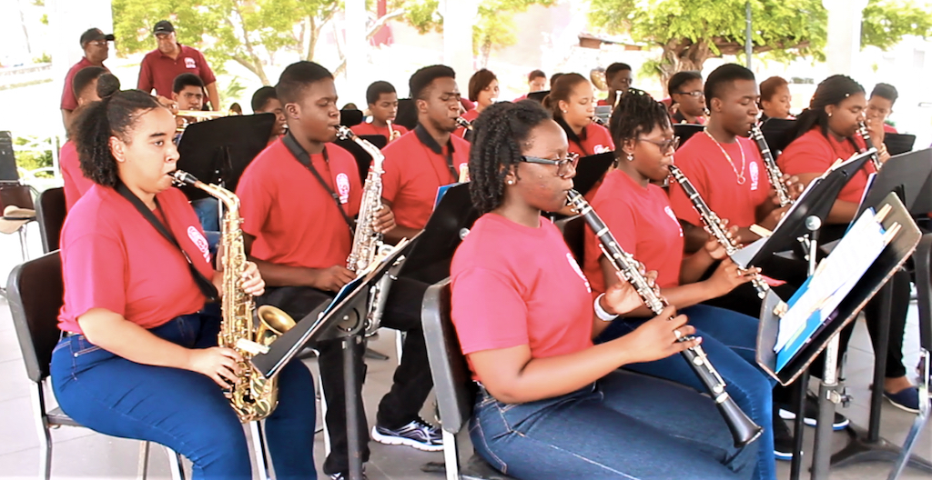 UVI Band Camp graduates perform Wednesday at Emancipation Garden.