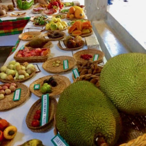 A wie variety of mangos and other tropical fruits are on display at Mango Melee. (Source file photo by Anne Salafia)