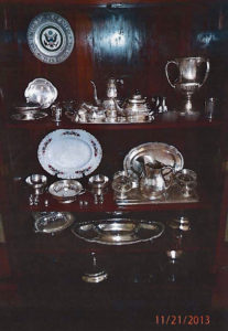 Fine silver and china previously documented to be at Government House on St. Thomas.