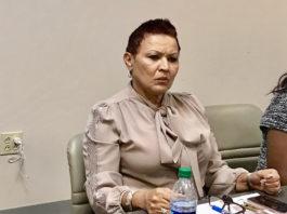 JFL CEO Wanda Ruben listen to discussion at the hospital's board meeting. (Elisa McKay photo)