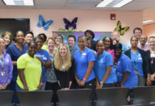 Visiting health workers and their colleagues from the V.I. gather last spring to provide services to mothers and babies experiencing problems associated with Zika. (Submitted photo)
