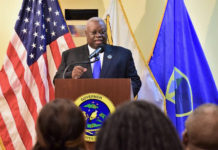 Gov. Kenneth Mapp talks about school openings and contract negotiations at a news conference Monday on St. Thomas.