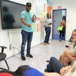 Jamori Blash shares his tips for success with students Wednesday.
