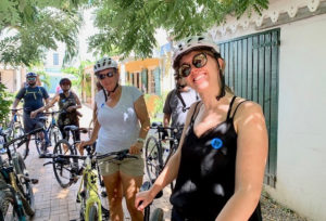 Passengers from the Celebrity Summit cruise ship return from a Bike St. Croix tour. (Anne Salafia photo)