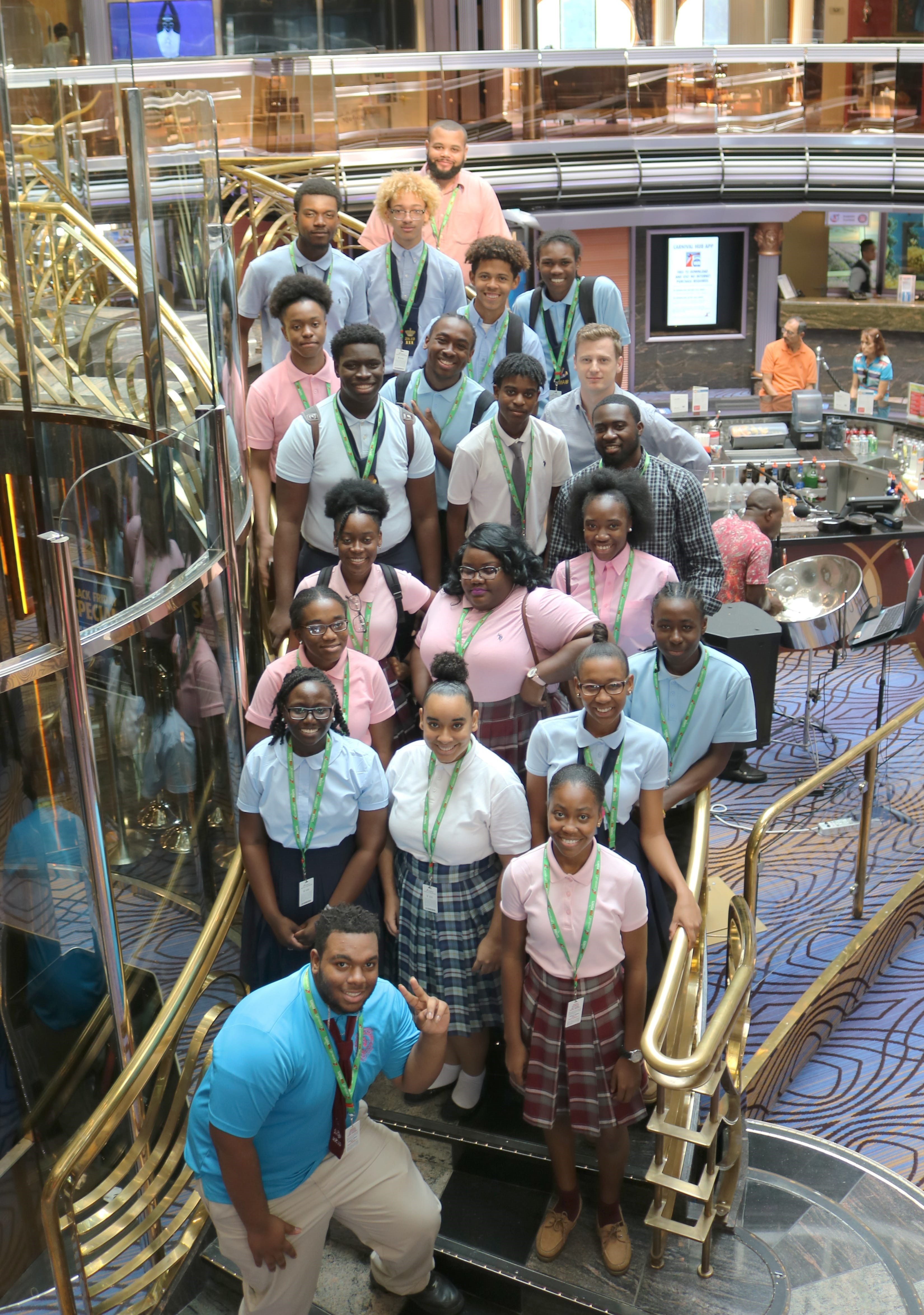 Carnival Cruise Line Performers Encourage Students at Music