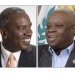 Democratic gubernatorial candidate Albert Bryan and independent incumbent Gov. Kenneth Mapp.