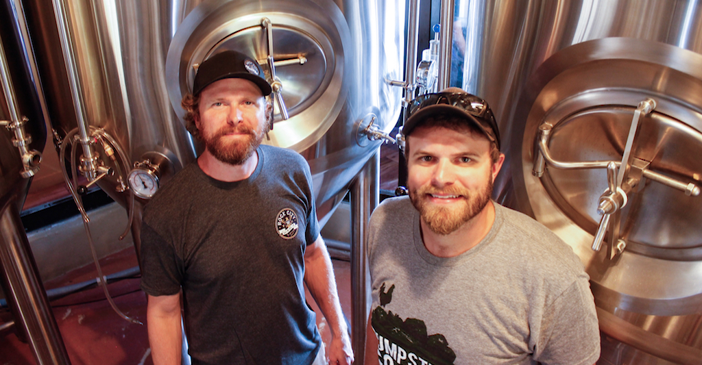 Rock City Brewing owners John, left, and Joe Brugos at their Tap & Still brewery.